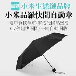 品羅快開自動傘 小米旗下品牌 米家自動傘 小米自動傘 福懋布料 防水珠 雨傘 晴雨傘 防紫外線【coni shop】