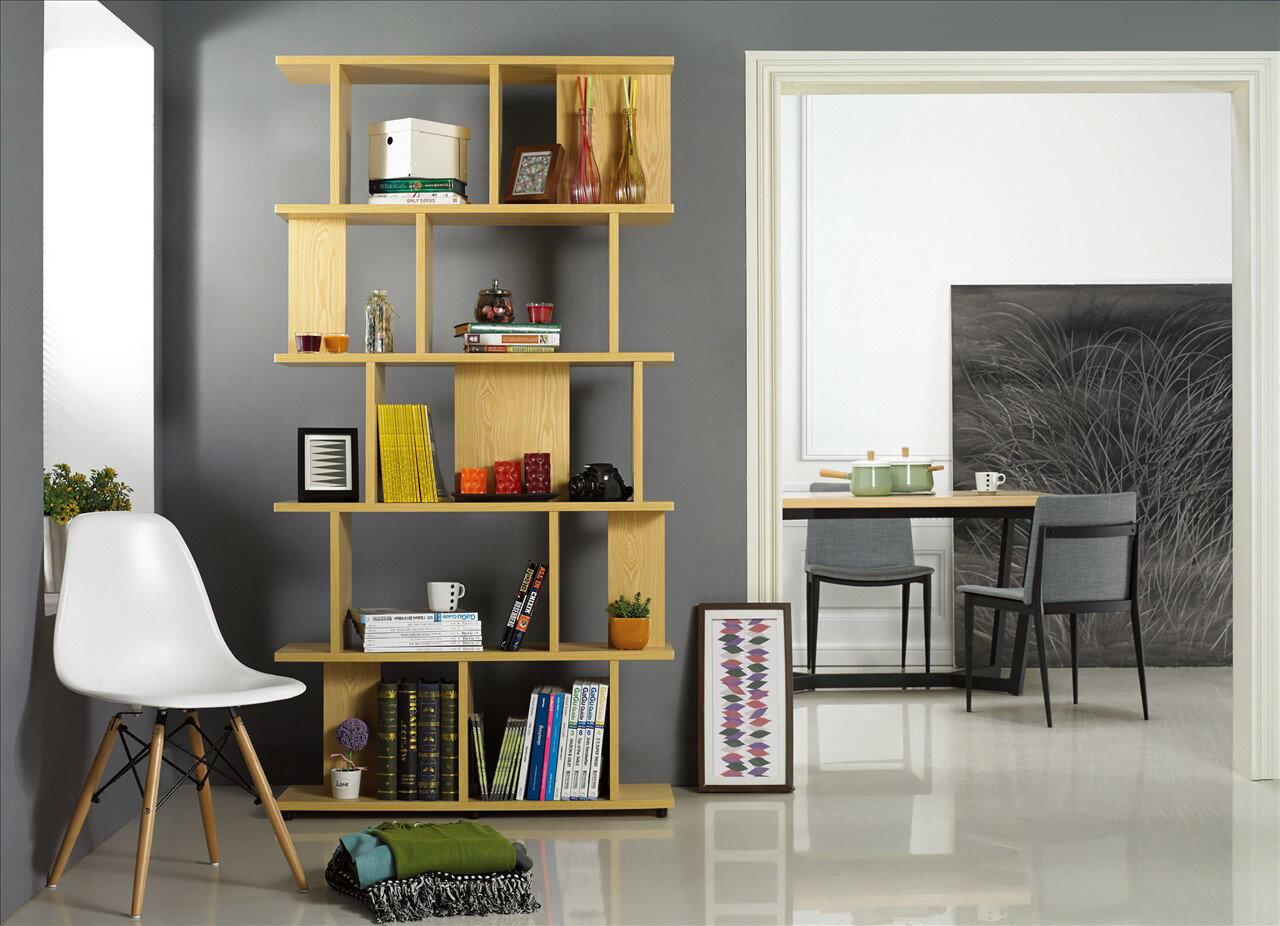 【石川家居】KF-870-2 海爾斯3.3X7尺栓木本色造型書櫃(不含其他商品) 需搭配車趟