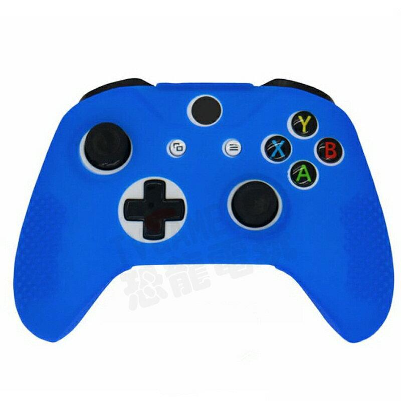 XBOXONE XBOX ONE 無線控制器 手把 把手 專用 果凍套 矽膠套 保護套 SILICON 顆粒防滑 藍色
