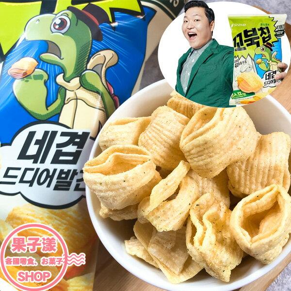 韓國ORION好麗友烏龜餅乾(玉米濃湯味)單包80g玉米餅[KR416]
