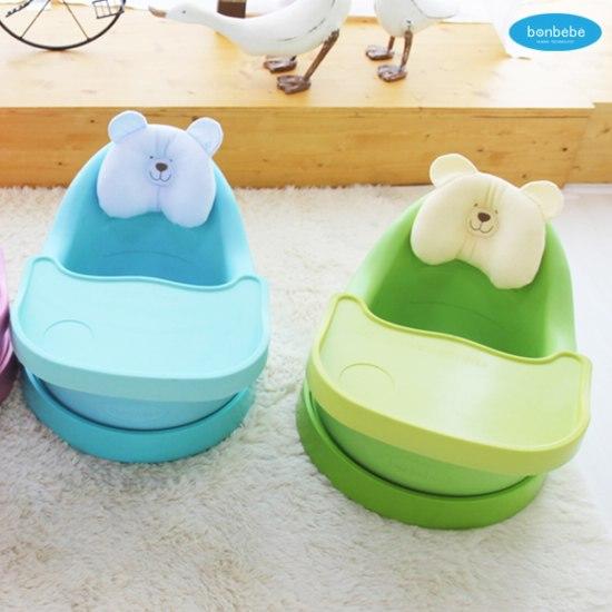 【贈收納袋】安琪兒【Bonbebe】360度歡樂多功能幫寶椅-藍色 5