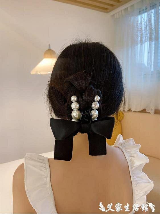 髮夾 珍珠蝴蝶結髮飾夾子頭飾女夏夾頭髮髮夾后腦勺大小號髮抓夾鯊魚夾 【618 購物】