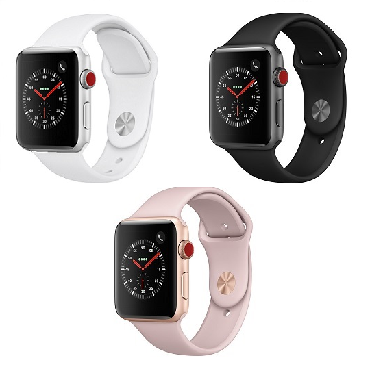 huge discount 45bb2 19e0f Apple Watch Series 3 38mm Cellular + WiFi Smartwatch with Sport Band