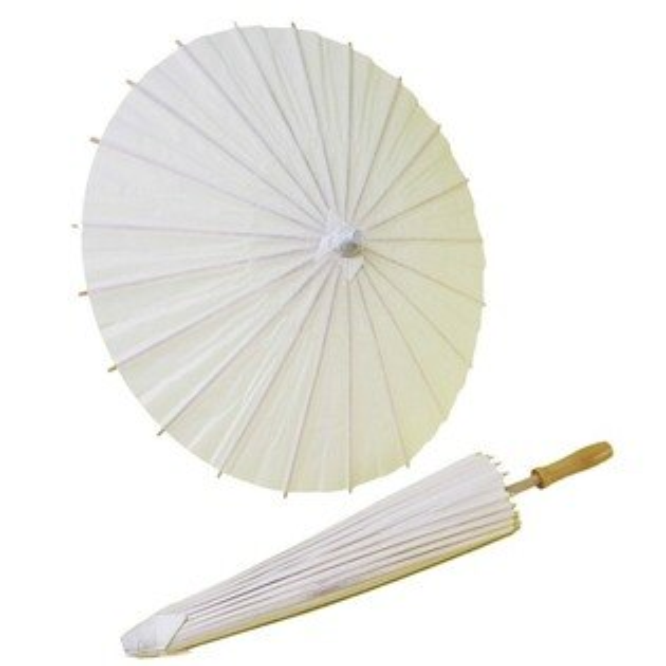 20吋空白紙傘DIY白色綿紙傘直徑約60cm一支入{促120}彩繪紙傘空白傘彩繪傘表演傘畫畫傘手工傘塗鴉傘~6354