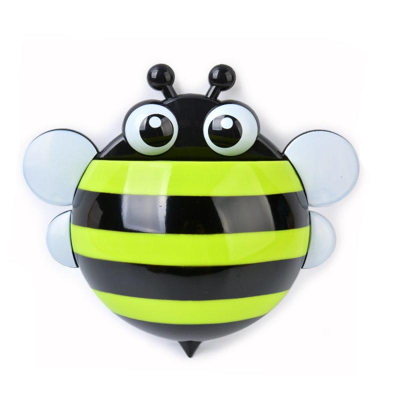小蜜蜂三吸盤洗漱牙刷架 Q版造型吸盤蜜蜂牙刷盒 牙膏牙刷架~特價! 不挑款【DC320】  123便利屋