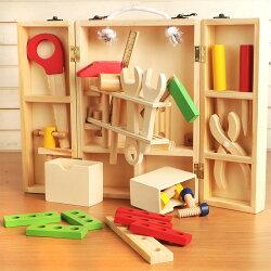 樂兒學 兒童手提工具箱拆裝玩具木製學習積木(MT0464)