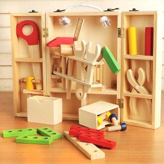 【NG福利品】樂兒學 兒童手提工具箱拆裝玩具木製學習積木(MT0464)