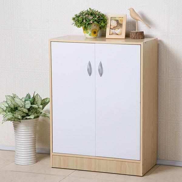 鞋櫃 有門鞋櫃 置物櫃 收納櫃 玄關櫃《YoStyle》簡約二門收納鞋櫃(楓木+白色)