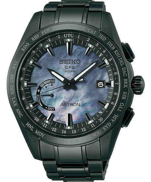 Seiko 精工錶 Astron 8X22-0AF0SD(SSE091J1)限量GPS對時鈦金屬腕錶/珍珠母貝面44.8mm