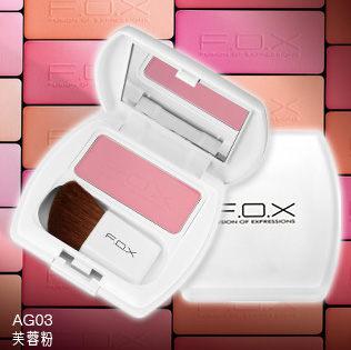 F.O.X 完美彩妝 華麗印象腮紅4g 3色~Belle倍莉小舖~