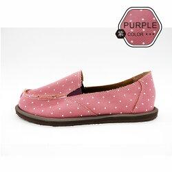 ALMANDO-SHOES ●雪花點點輕量記憶墊帆布鞋● 台灣精品/ 超輕量透氣帆布鞋(紫點點)