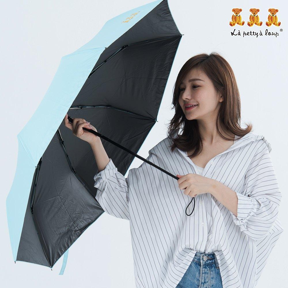 三隻小熊 黑膠鑽石秒收傘 晴雨傘 防風 抗UV 5