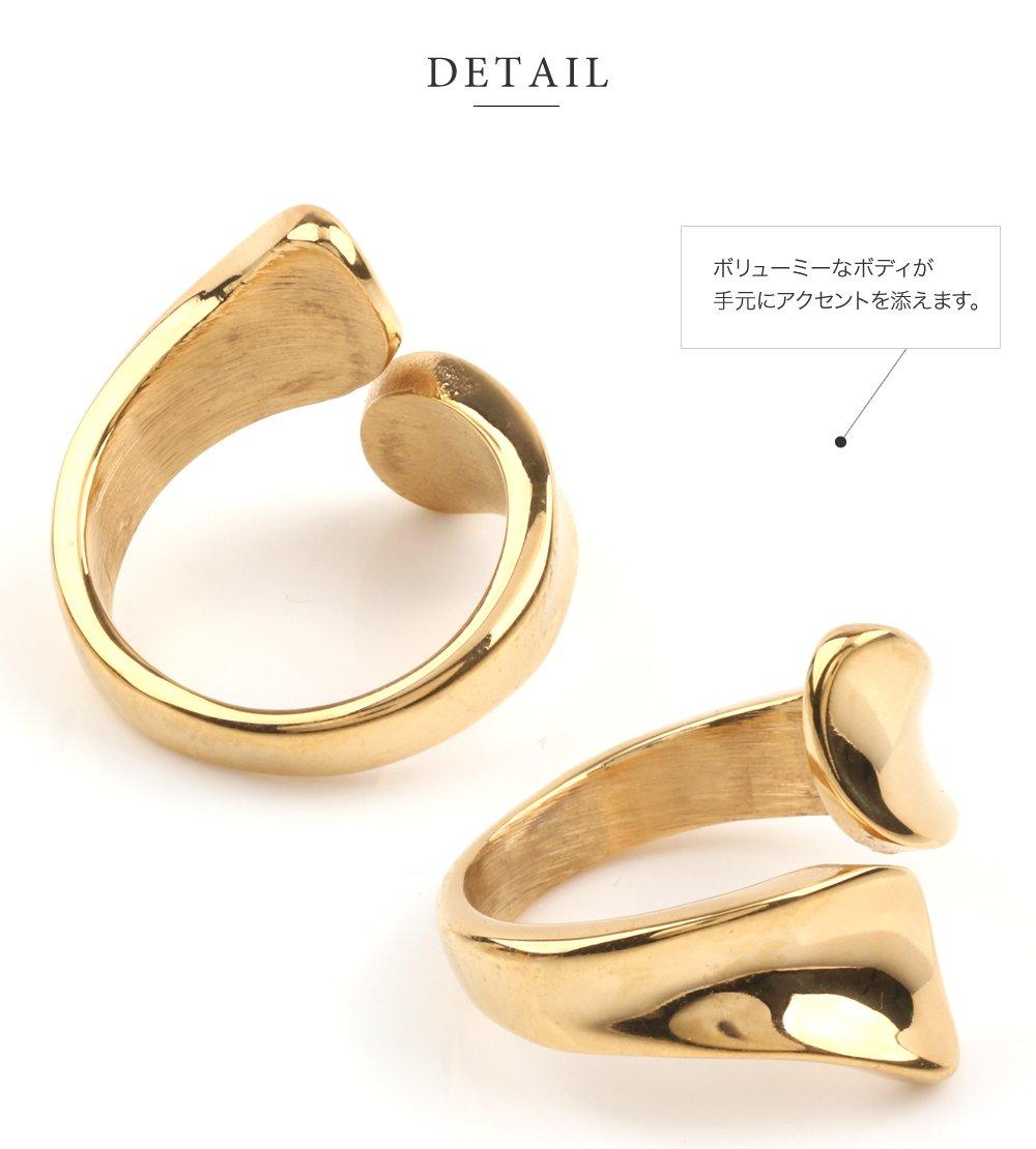 日本CREAM DOT  /  リング 指輪 ステンレス製 低アレルギー レディース 大きいサイズ 9号 12号 15号 17号 ラップリング ファッションリング 大人カジュアル シンプル ゴールド シルバー ピンクゴールド  /  a03642  /  日本必買 日本樂天直送(1990) 3
