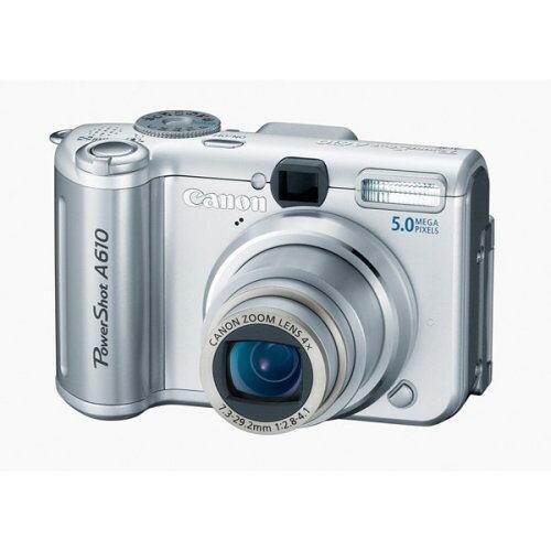 故障的 Canon A610 數位相機 可開機.螢幕黑的.其他功能不明