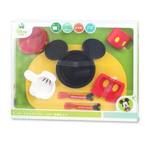迪士尼 Disney 米奇造型多功能餐具禮盒