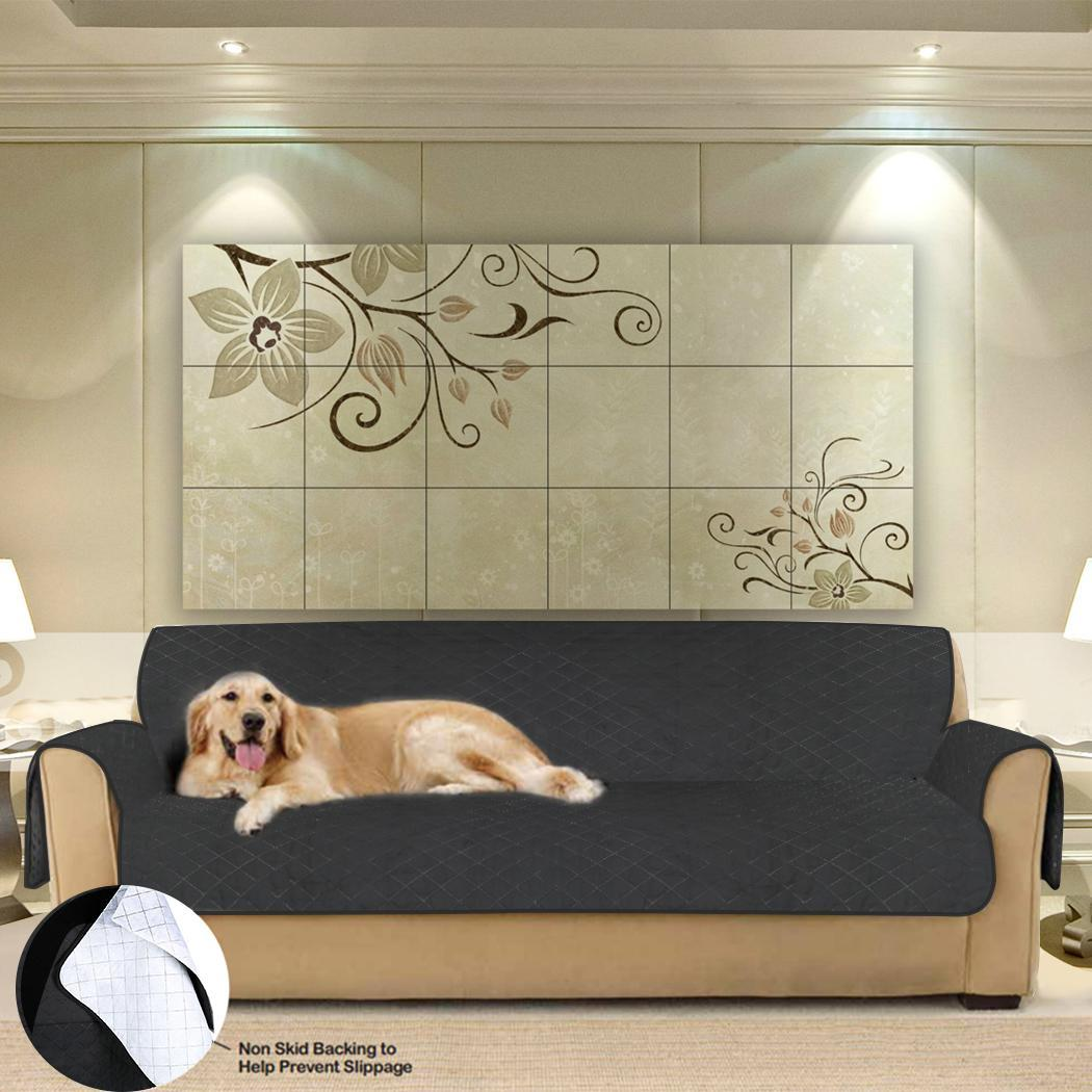 Quilted Micro Fiber Pet Dog Loveseat Chair Sofa Cover 2