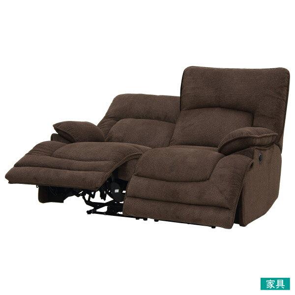 ◎布質2人用電動可躺式沙發 HIT 804 DBR NITORI宜得利家居 1