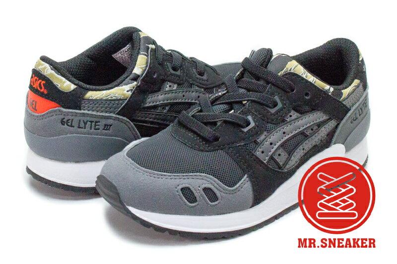 ☆Mr.Sneaker☆ ASICS Tiger Gel-Lyte III 虎斑 迷彩 童鞋 Kids 黑色