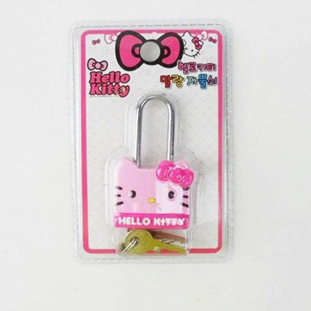 X射線【C251813】Hello Kitty 鑰匙鎖頭,萬用門鎖/冰箱鎖/防兒童貓咪開門/鑰匙/密碼鎖
