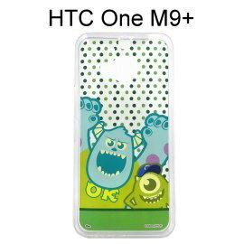 迪士尼透明軟殼 [點點] 毛怪&大眼仔 HTC One M9+ (M9 Plus)【Disney正版授權】