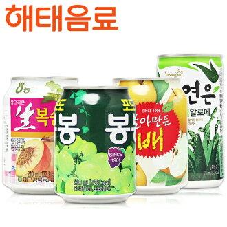 韓國原裝 Haitai 果肉果汁系列 水蜜桃汁/葡萄汁/水梨/蘆薈汁 喝的到果肉