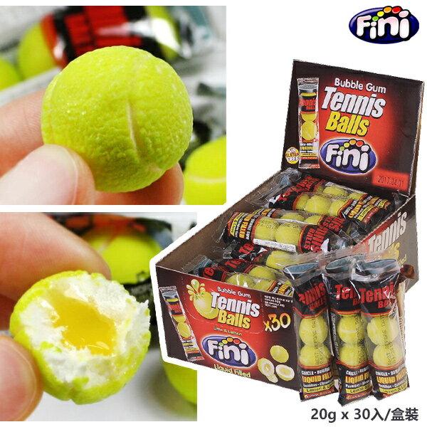西班牙 Fini Tennis 網球口香糖 Lime  Lemon 20g x 30入 盒
