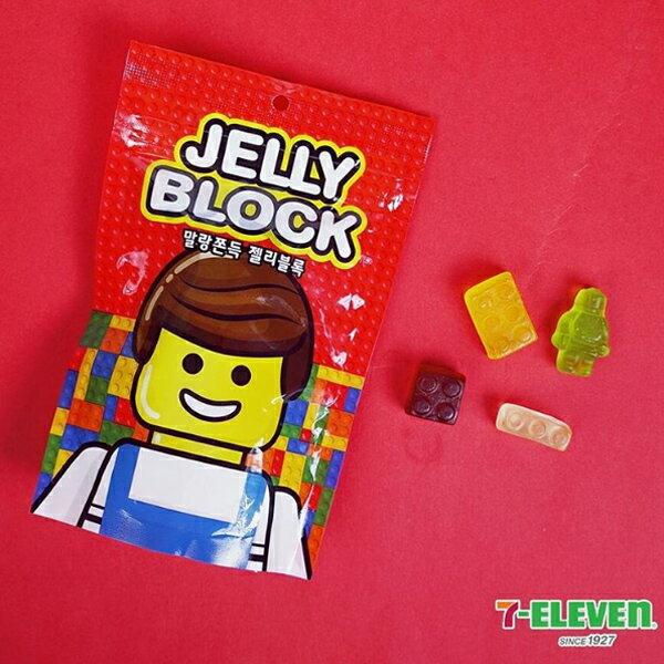 LOTTE 樂天 7-11限定 Jelly Block 樂高積木軟糖 69g