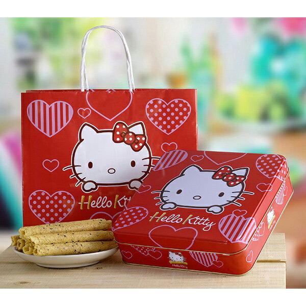 Hello Kitty 芝麻蛋捲幸福禮盒4包入 附提袋