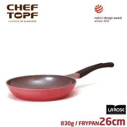 韓國 CHEF TOPF La Rose玫瑰鍋 平底鍋26cm(無蓋)不沾鍋