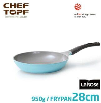 韓國 CHEF TOPF La Rose玫瑰鍋 平底鍋28cm(無蓋)不沾鍋 ※限宅配