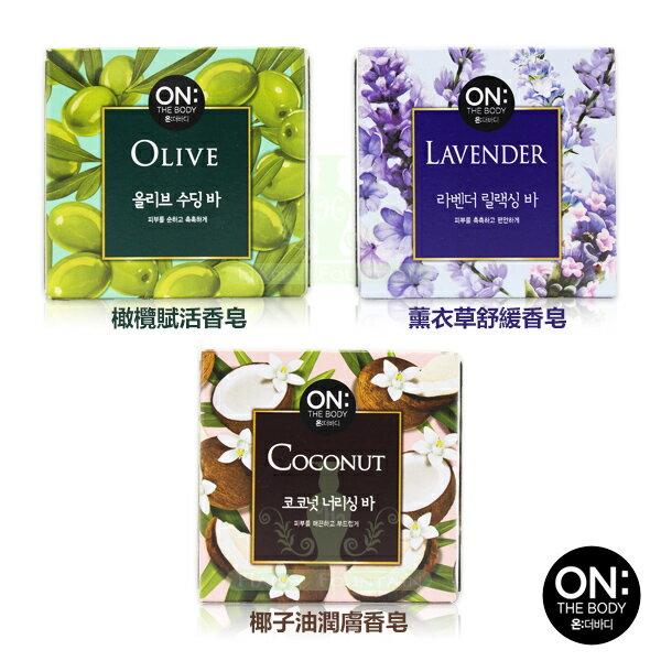 韓國 ON THE BODY 自然系療癒有機滋養皂 90g