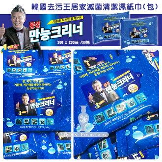 韓國去污王 居家滅菌清潔濕紙巾 30抽