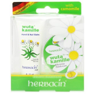 德國小甘菊 herbacin 經典即時護手霜組合(圓罐20ml+軟管20ml)