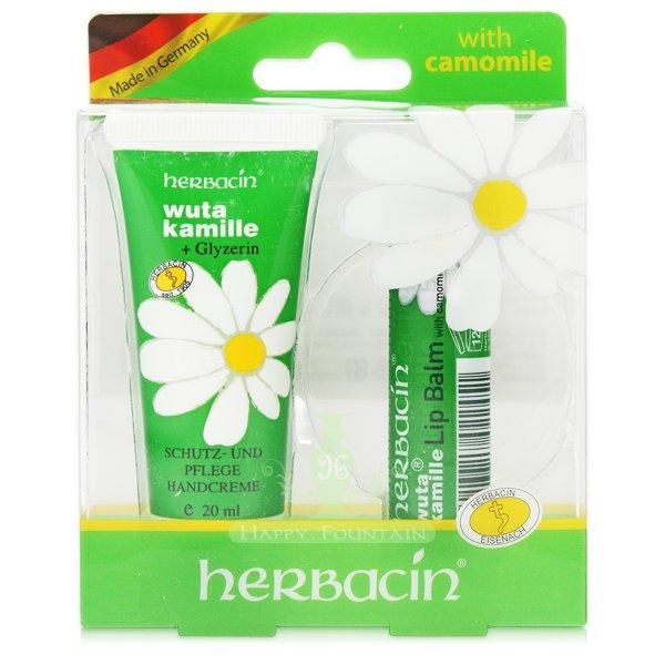德國小甘菊 herbacin 敏感修護唇膏4.8g+1號護手霜20ml(滋潤版)