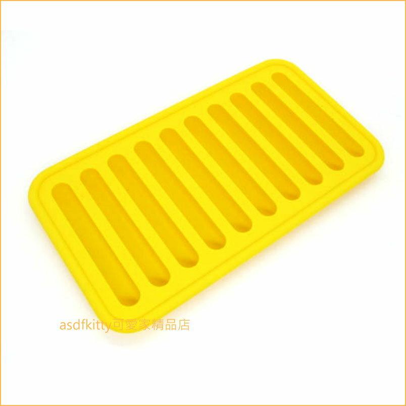 asdfkitty可愛家~ 川嶋 黃色細長條製冰盒  矽膠模型~做冰塊.巧克力.果凍.布丁