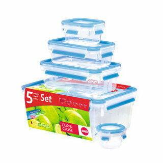 德國EMSA愛慕莎~3D保鮮盒5件組(#514588)