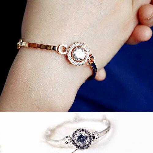 手環 金屬 拼接 寶石 圓形 手鏈 手環~DDC40178~ BOBI 5 4