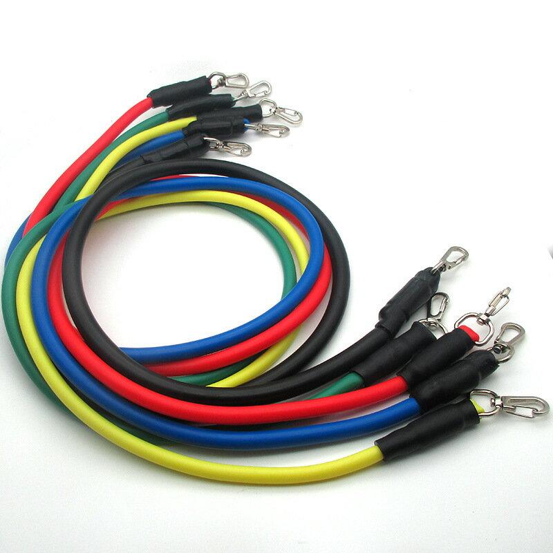 廠家供應拉力器11件套健身拉力器拉力繩多功能訓練