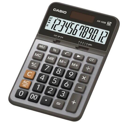 CASIO AX-120B/ AX-12B 金屬面板計算機 (12位)
