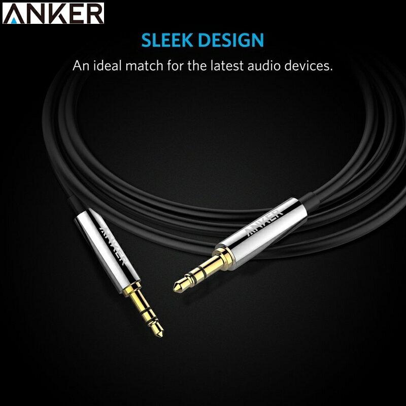 耀您館★美國Anker PVC Premium端子3.5mm音源線AUX-IN音源線(黑色/紅色,長1.2公尺即1.2米1.2M)適Apple蘋果iPhone iPod iPad air mini p..