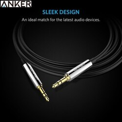 耀您館★美國Anker PVC Premium端子3.5mm音源線AUX-IN音源線(黑色/紅色,長1.2公尺即1.2米1.2M)適Apple蘋果iPhone iPod iPad air mini pro 8 7s 7 7+ 6 6s 6+ 5 5s 5c 4 3 2 the Sony索尼Walkman創見Zune 3.5mm耳機孔耳機延長線耳機線耳機音源線聲音訊號線音訊線auxin音源線audi