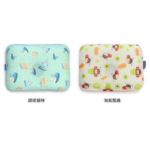 韓國GIOPillow超透氣護頭型嬰兒枕頭【單枕套組-L號】(調皮貓咪淘氣瓢蟲)★衛立兒生活館★