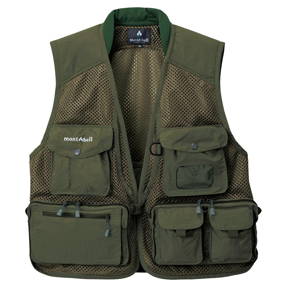 ├登山樂┤日本 mont-bell Nature Guide Vest多口袋背心 深橄綠 # 1103299DKOV