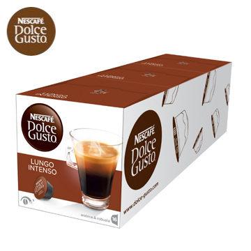 雀巢 NESCAFE 美式濃黑濃烈咖啡膠囊 (Lungo Intenso)(3盒組,共48顆)