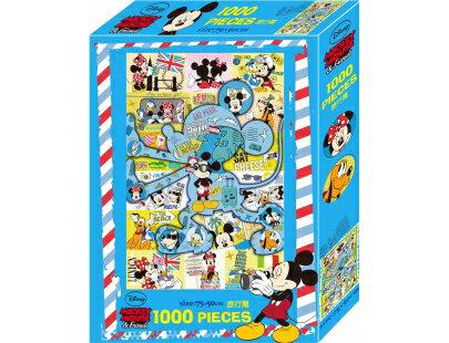米奇1000片盒裝拼圖(旅行篇)