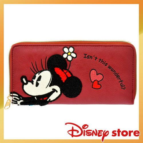 【真愛日本】4936313315790 專賣店限定長夾-米妮  迪士尼 米老鼠米奇 米妮   錢包 皮夾
