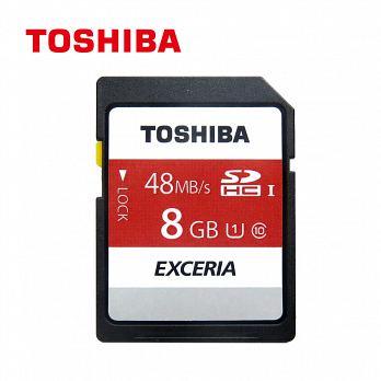 【Toshiba】8GB SDHC UHS-I U1 C10 R48 記憶卡 THN-N301R0080A4