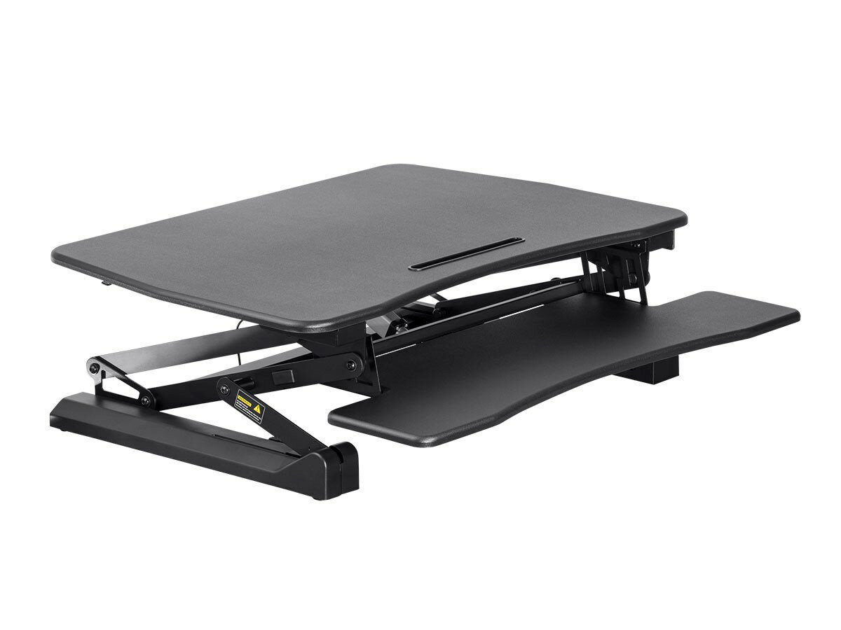 "MonopriceElectric Motorized Height Adjustable Sit-Stand Desk Converter 36"" Table Top 1"