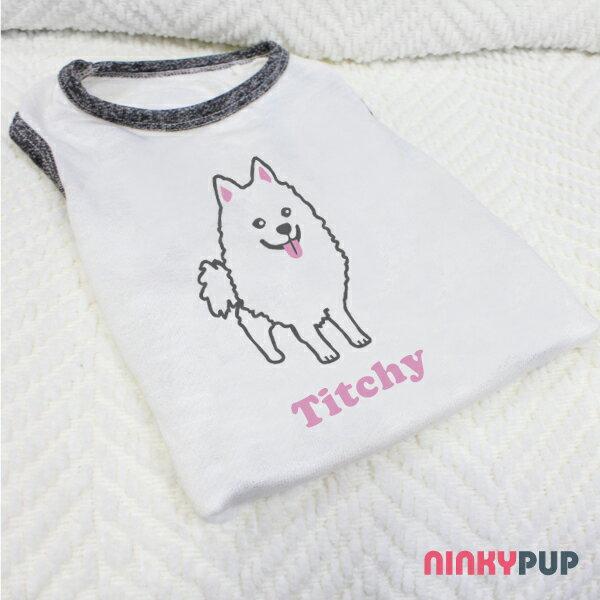 [毛孩姓名訂做款] 狐狸犬 Japanese Spitz 反光衣(毛孩款)