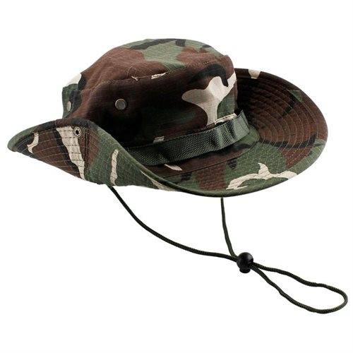 d4d987ecec2 Fishing Hunting Bucket Hat Boonie Outdoor Cap Washed Cotton Military Safari  Summer Men - Green Camouflage